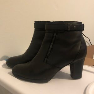 Short black boots with 2 inch heels